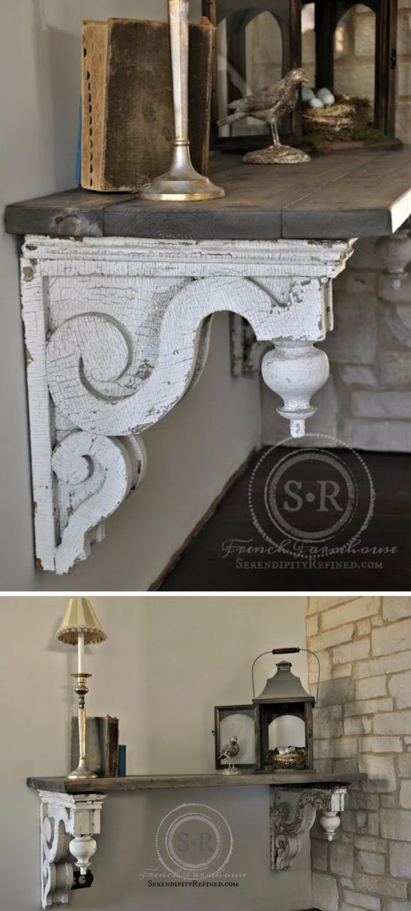 entry foyer table. Reclaimed Architectural Corbel Entry Foyer Table. Table