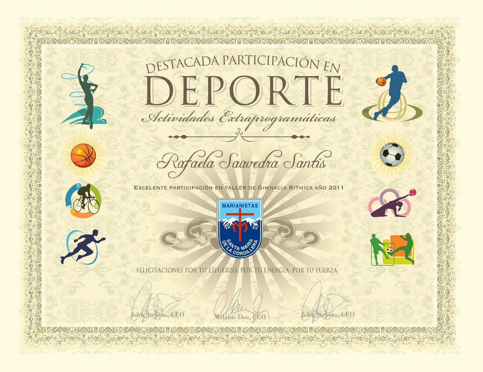 diplomas deportivos