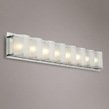 Marvelous Possini Euro Design Glass Bands 30 1 2 Wide Bath Light Home Interior And Landscaping Staixmapetitesourisinfo