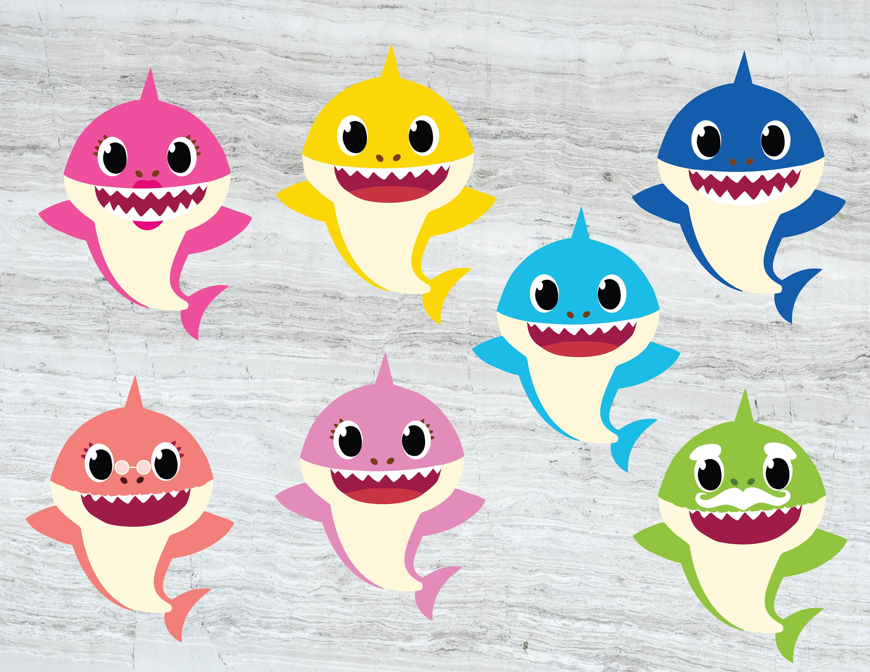 Family Shark SVG Baby shark SVG Mommy shark Daddy shark
