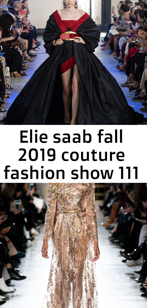 Elie saab fall 2019 couture fashion show 111 Elie Saab Fall 2019 Couture Fashion Show  Vogue Spring 2019 Couture  Nieves Alvarez  Celine Dion  Amy Adams  Uma Thurman  Cat...