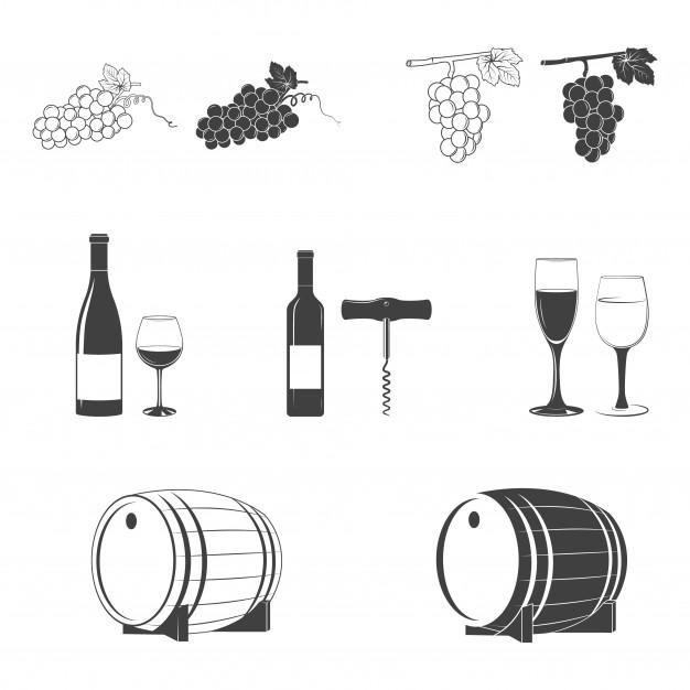 Wine icon set Premium Vector in 2020 Wine icon, Icon