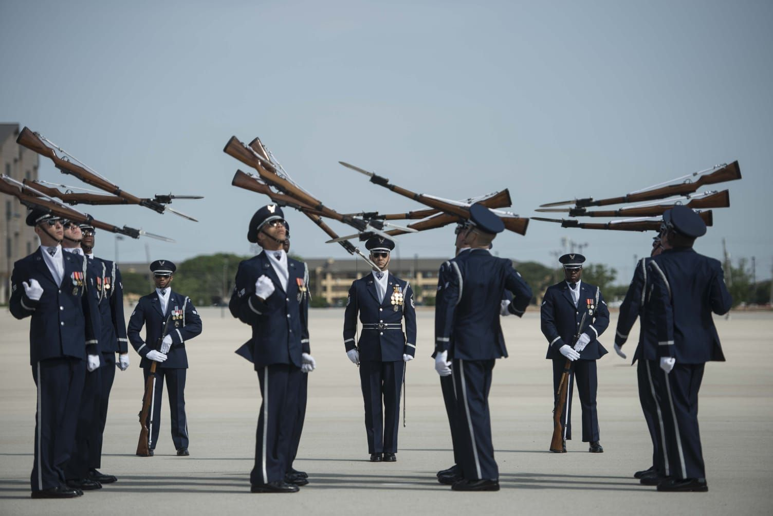 US Air Force Honor Guard Drill Team Airman Basic Training