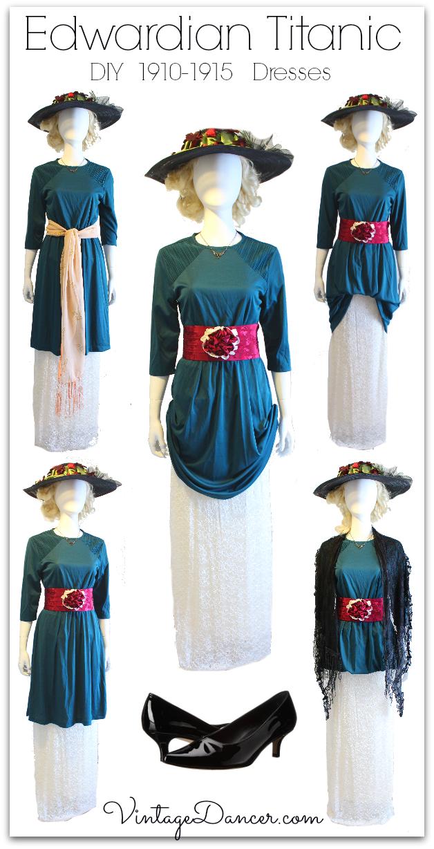Easy DIY Edwardian Titanic Costumes 1910-1915
