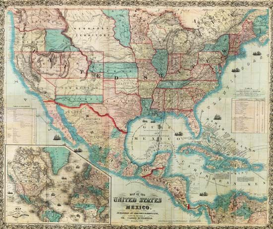 Mexico Us Map Map Map Of The United States And Mexico - Mexico and us map