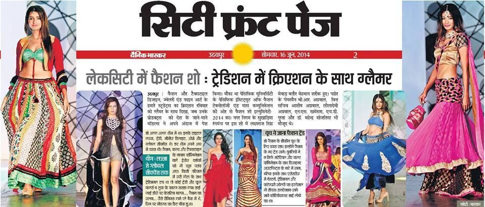 Fashion Show Organized By Pacific Institute Of Fashion Technology Udaipur Technology Fashion Udaipur Fashion Show