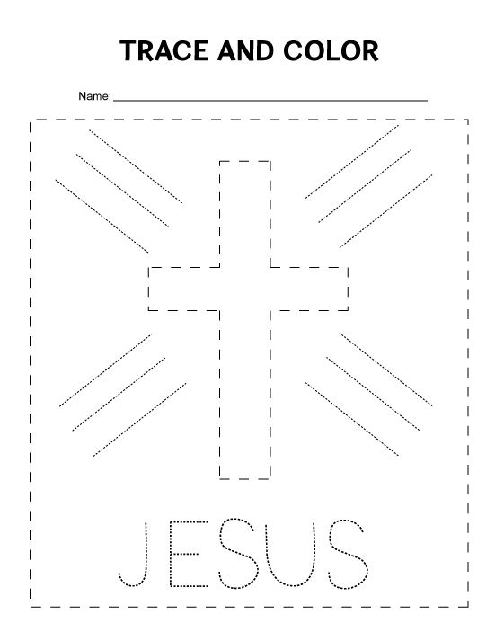 Tracing Worksheet for preschoolers. Great for Sunday
