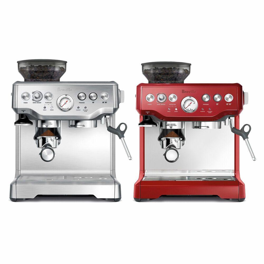 Breville Bes870 The Barista Espresso Coffee Machine Color Espresso Espresso Coffee Machine Home Espresso Machine