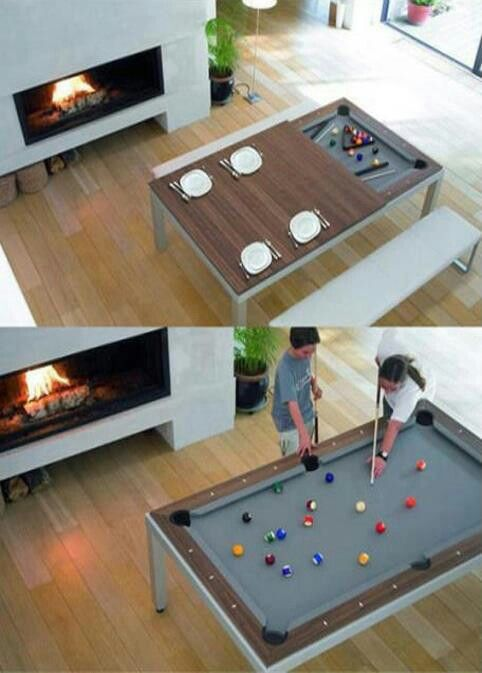 Kitchen Table Or Pool Table I Guess It Depends On What Kind Of - Table billard salle a manger pour idees de deco de cuisine