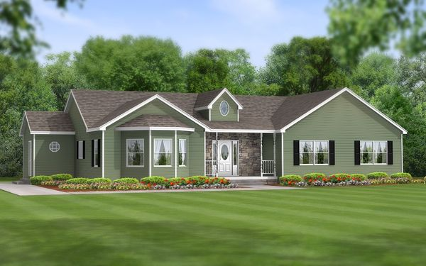 Ranch style house addition plans our modular products for Modular garage addition