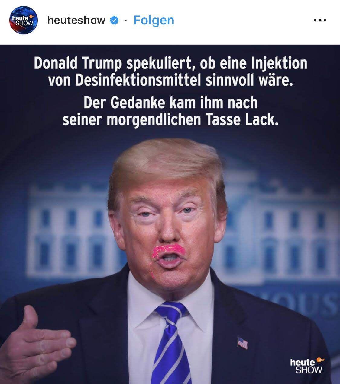 Donald Trump Desinfektion