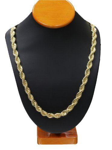 Gold RUN DMC HIP HOP Rope Chain b86f3e635aae