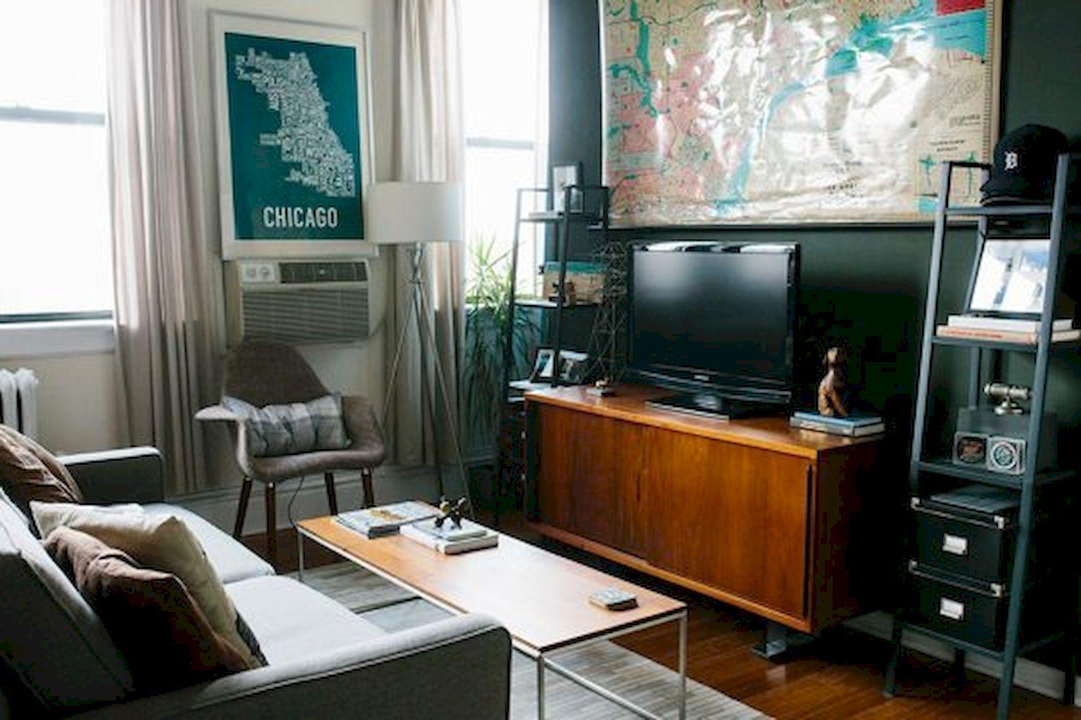 Adorable 80 Smart Solution Small Apartment Living Room Decor Ideas ...