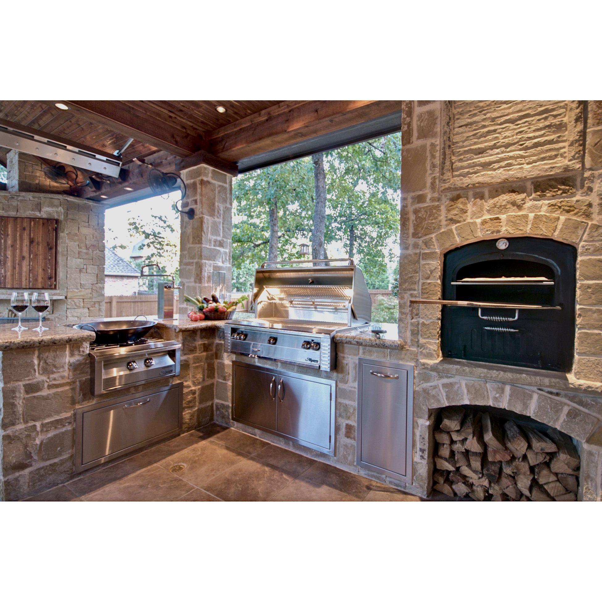 Alfresco 42 Double Access Doors Axe 42 Outdoor Kitchen Design Outdoor Kitchen Outdoor Kitchen Island
