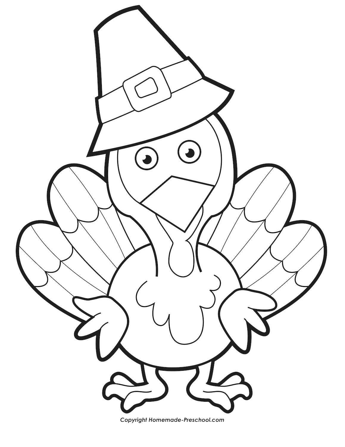 Free Thanksgiving turkey coloring page Thanksgiving