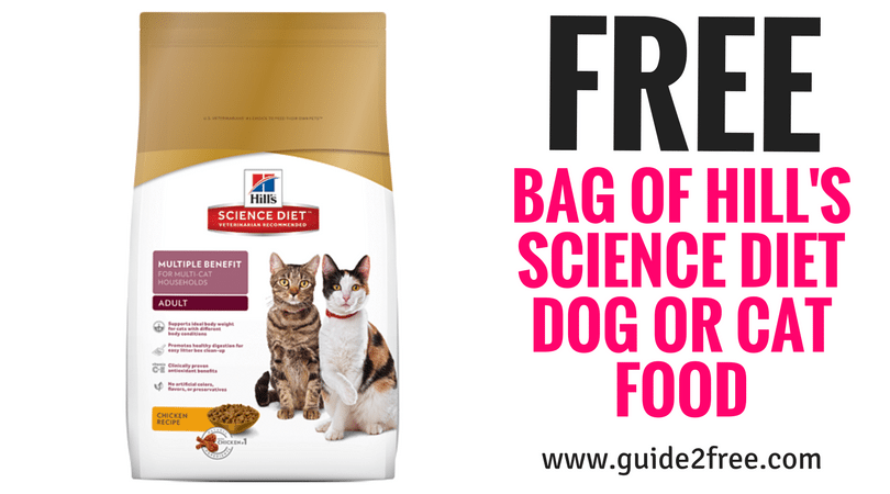 Free Bag Of Hill S Science Diet Dog Or Cat Food At Petsmart