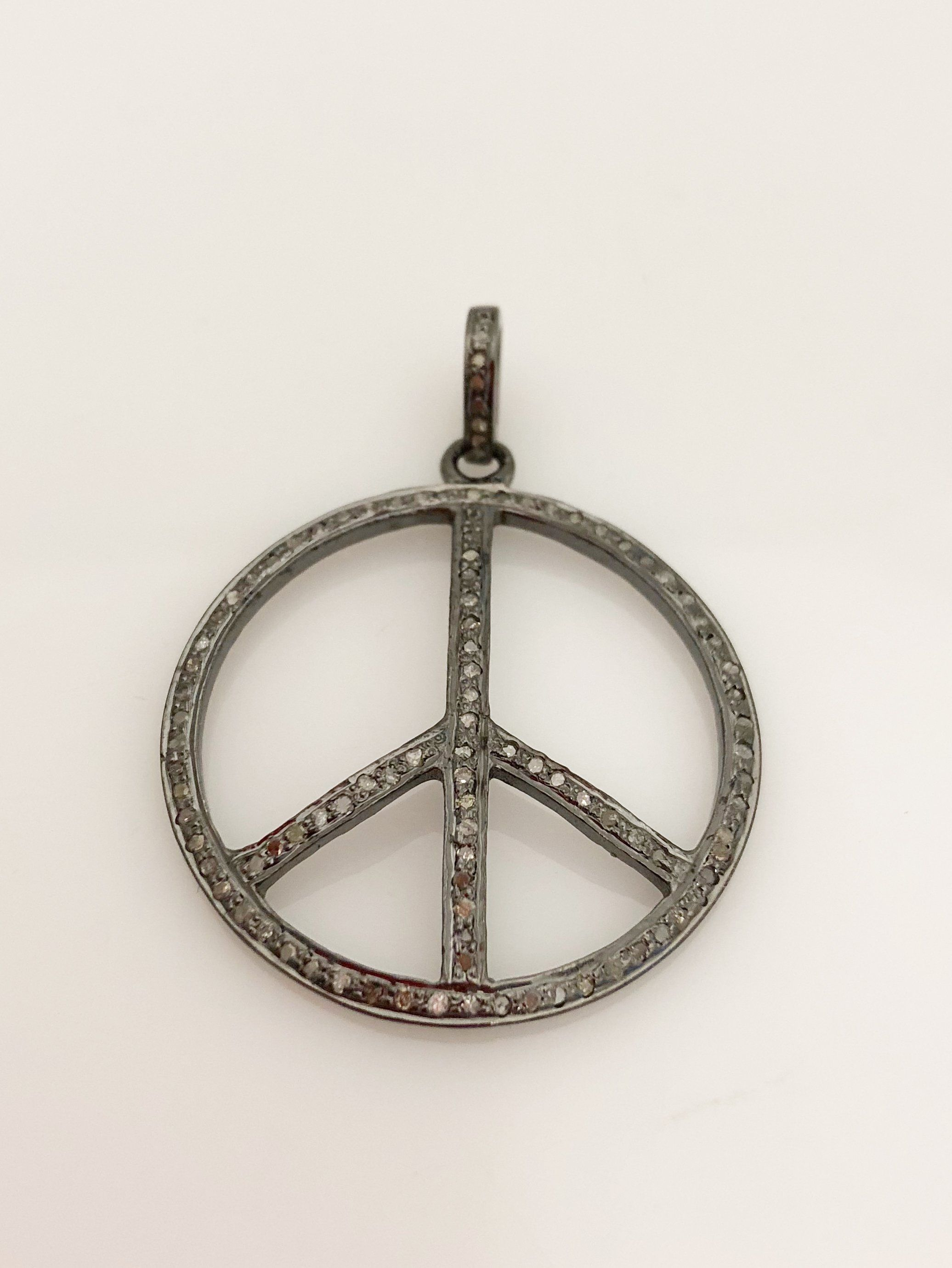 peace pendant products golden inc necklace thread