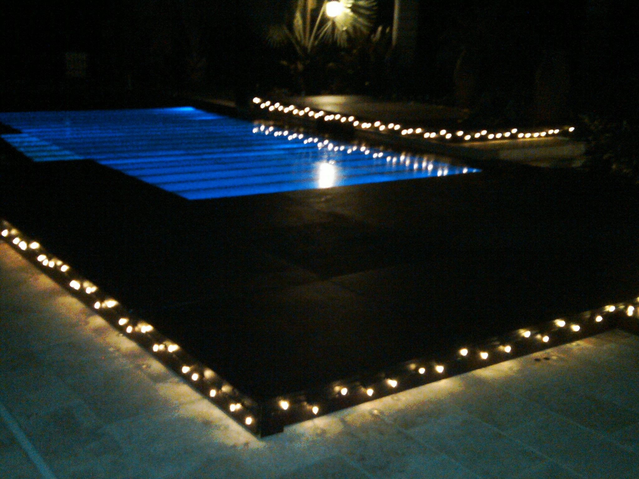 Pool cover dance floor If the in ground pool is done by then