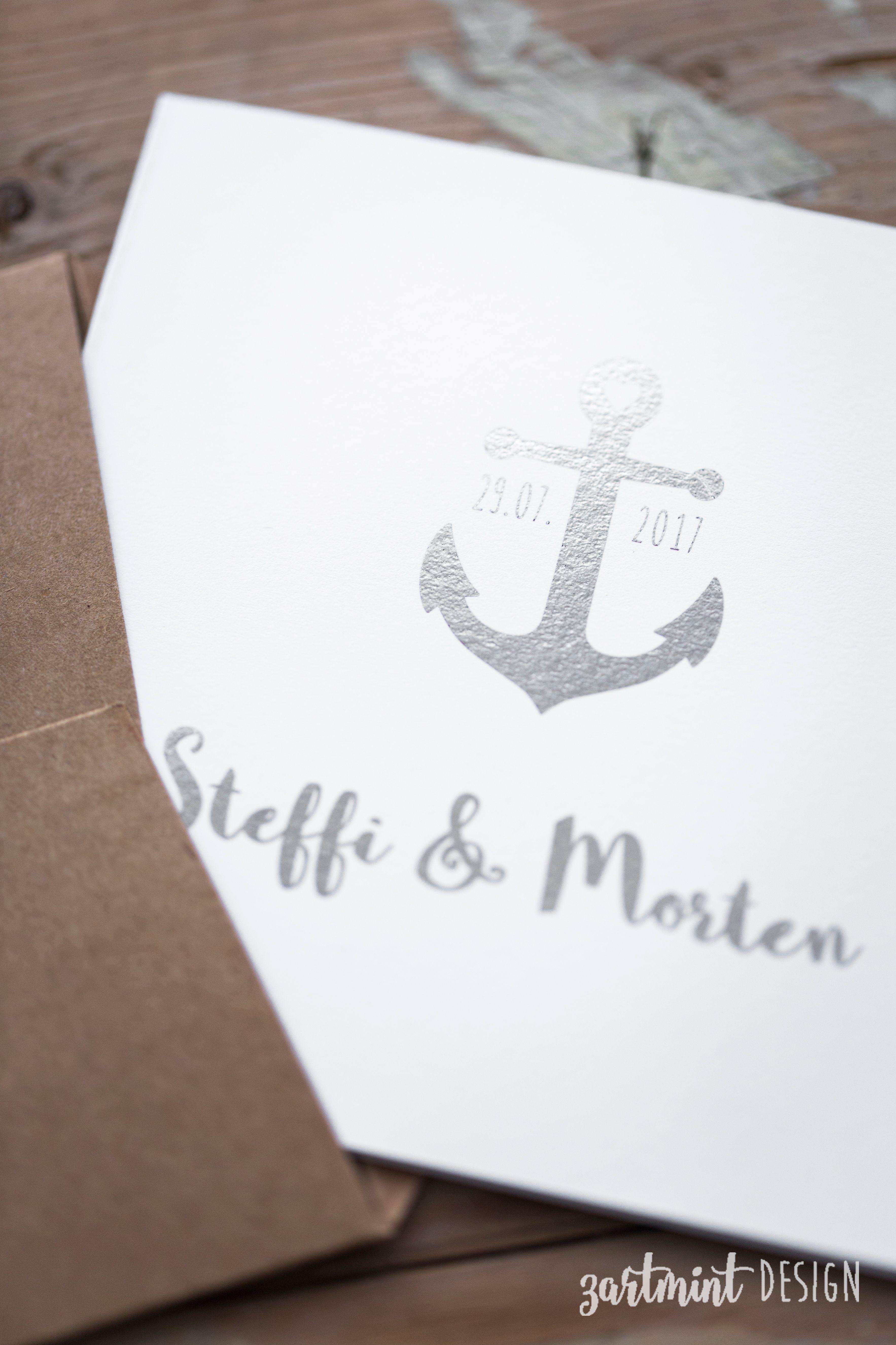 Verankert Hochzeitseinladung Einladungen Karte Hochzeit