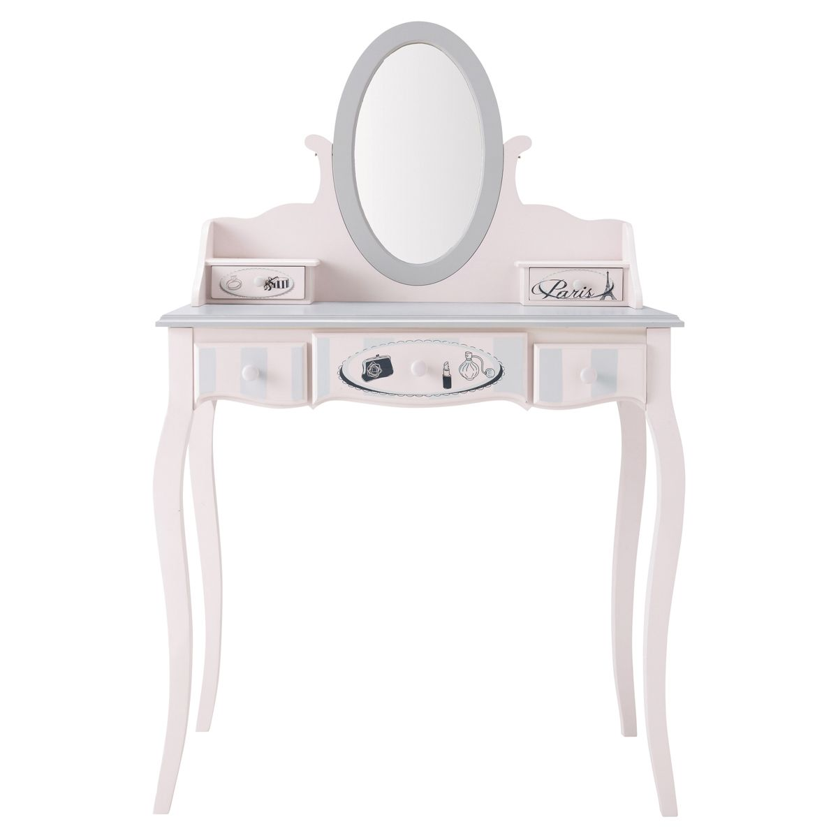 Dressing Coiffeuse Coiffeuse 5 Tiroirs Rose Pink Paris Dressing Tables And