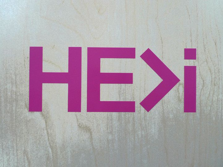 Sticker : Logo in pink : large | HE>i