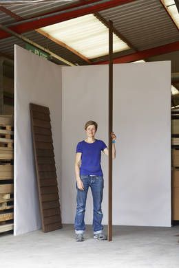 Nathalie de Leval designed and made Paul's Shed for Sir Paul Smith, using thermally modified American ash. She made this piece during The Wish List, for LDF 2014, where it was exhibited at the V&A upon completion.