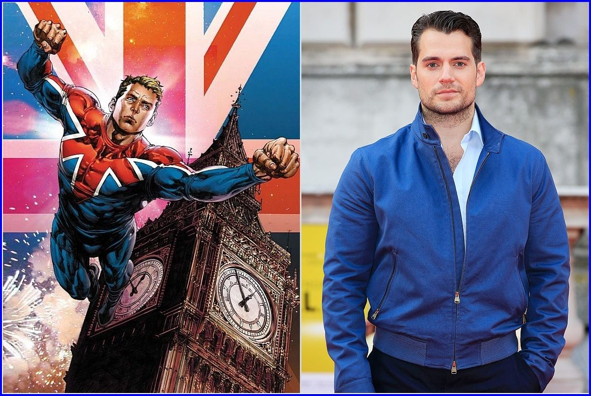 Henry Cavill as Captain Britain Superman   Comic heroes, Superman, Men's blazer