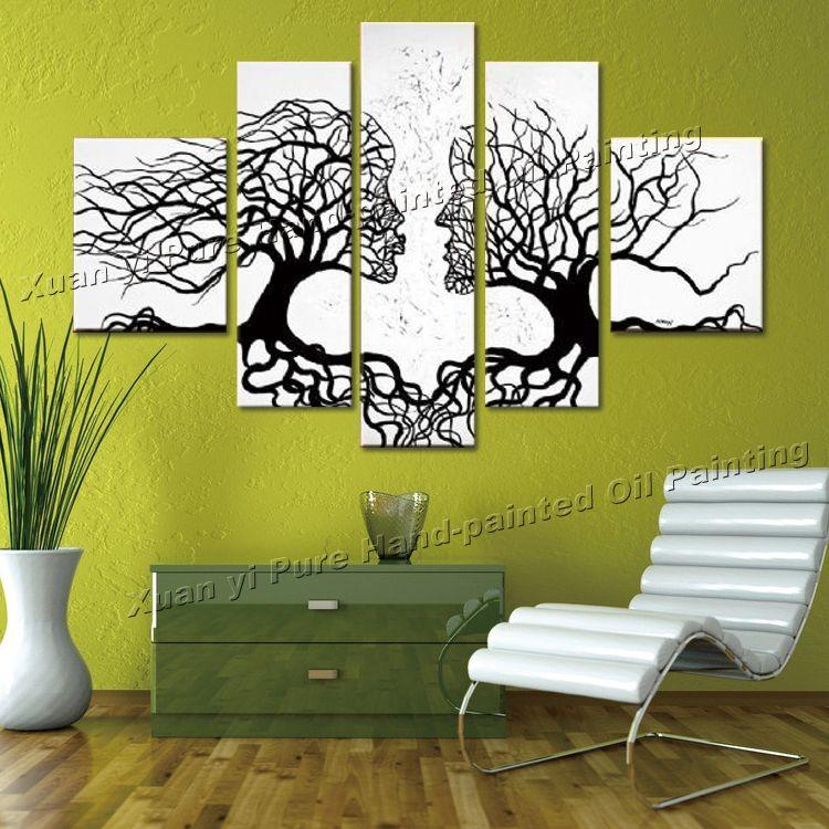 Cuadros decorativos para sala blanco y negro buscar con for Imagenes de cuadros abstractos rusticos