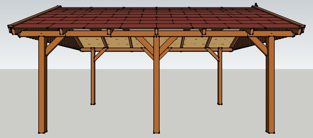 carport 4 x 6 meter mit satteldach aus holz zum selber. Black Bedroom Furniture Sets. Home Design Ideas
