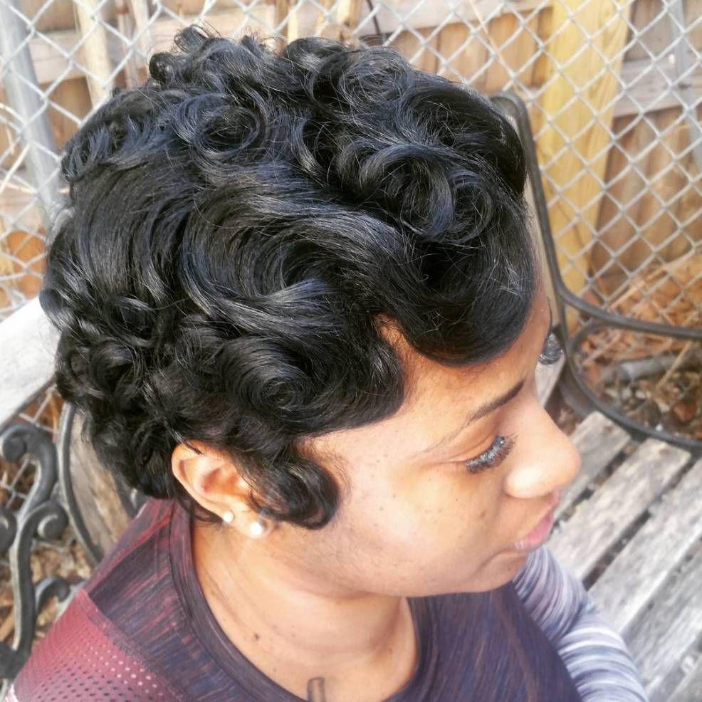 Black Hair Finger Waves Hairstyles Hair Waves Finger Wave Hair Frozen Hairstyles
