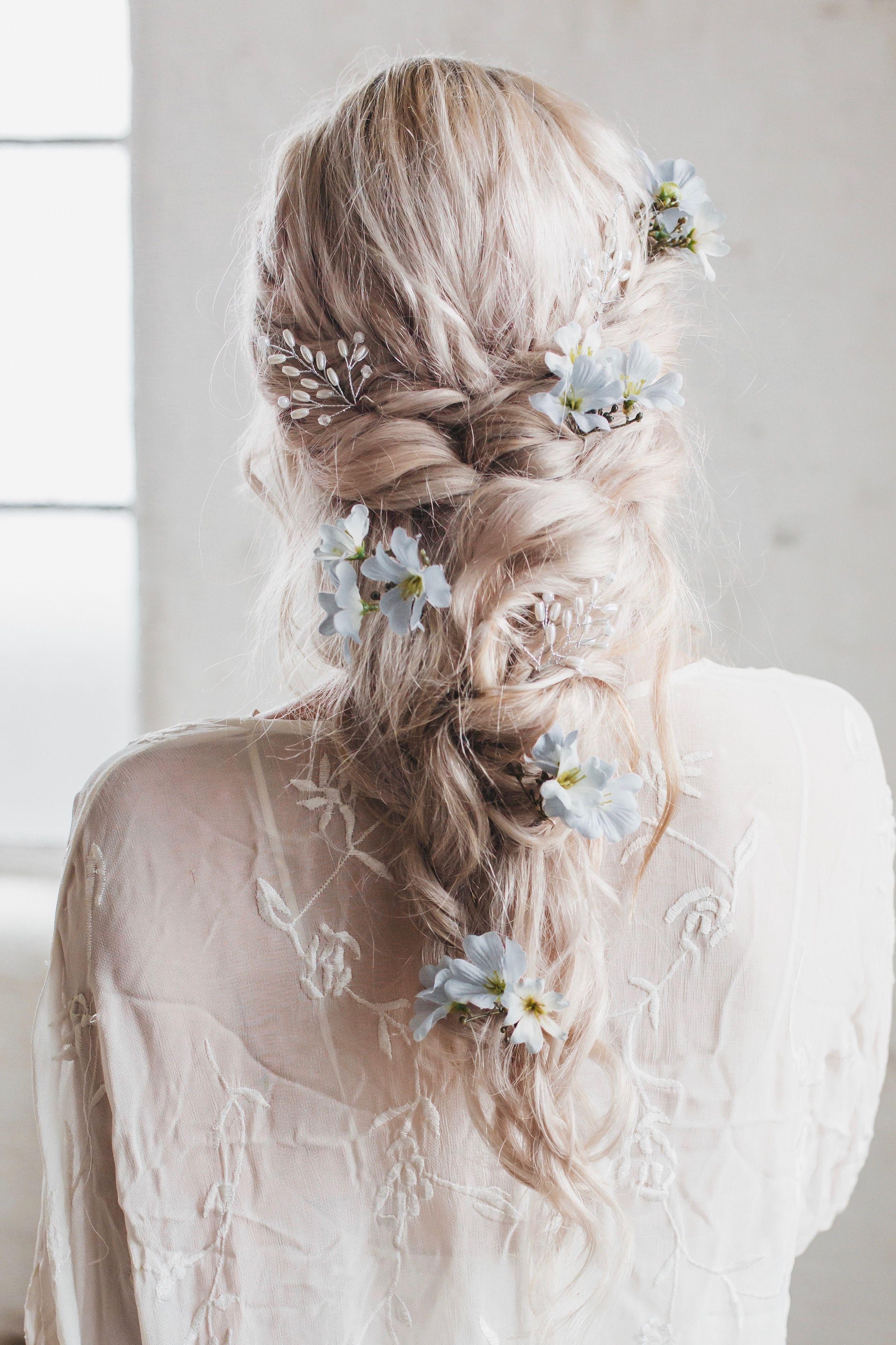 Luna Wild Flower Hair Pins Wedding Wedding Hair Flowers Bohemian Wedding Hair