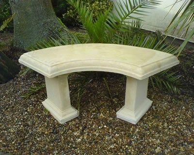 Tremendous Stone Garden Bench Rustic Bench Curved Garden Chair Gmtry Best Dining Table And Chair Ideas Images Gmtryco