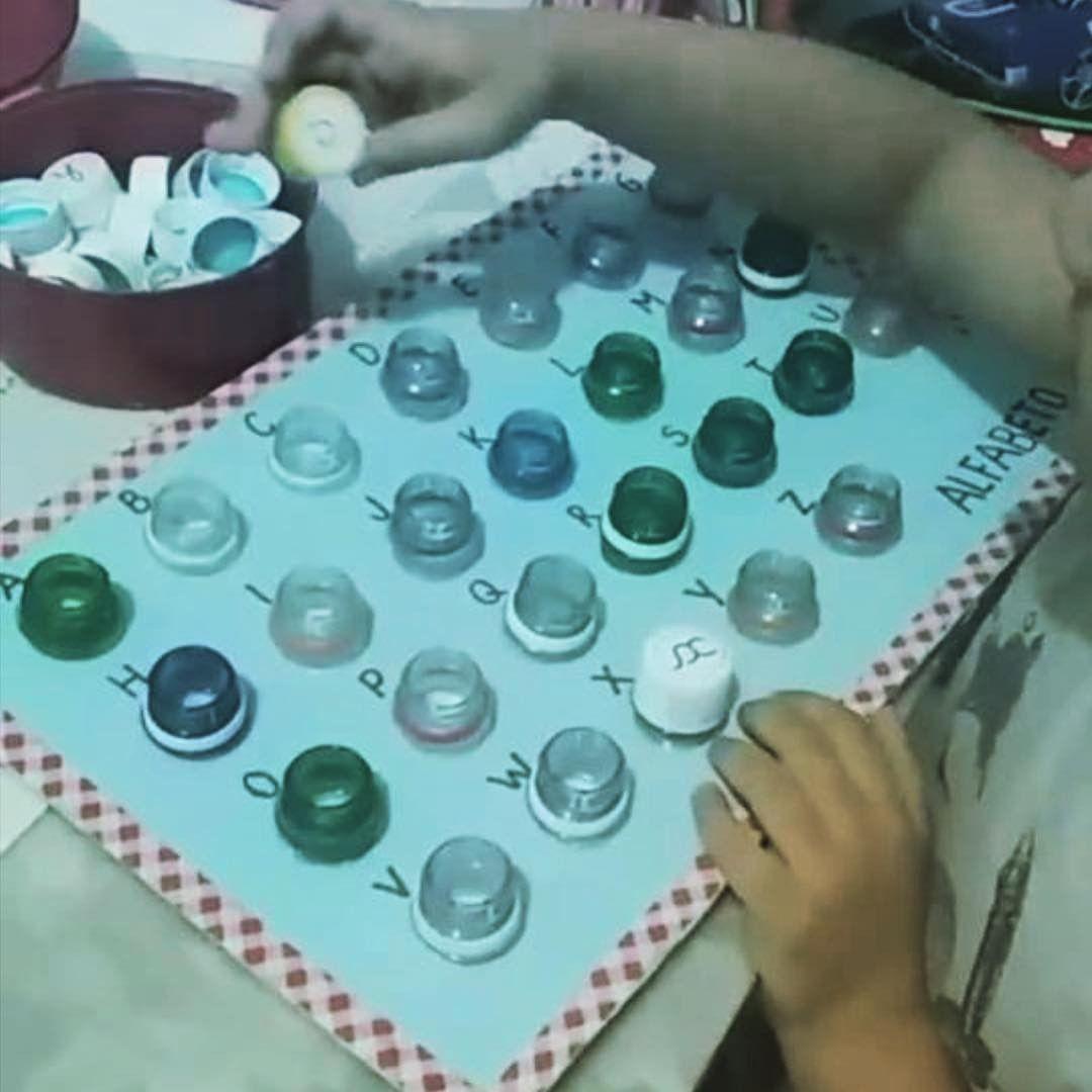 Reciclar Tampinhas Atividade Alfabeto Educacao Infantil