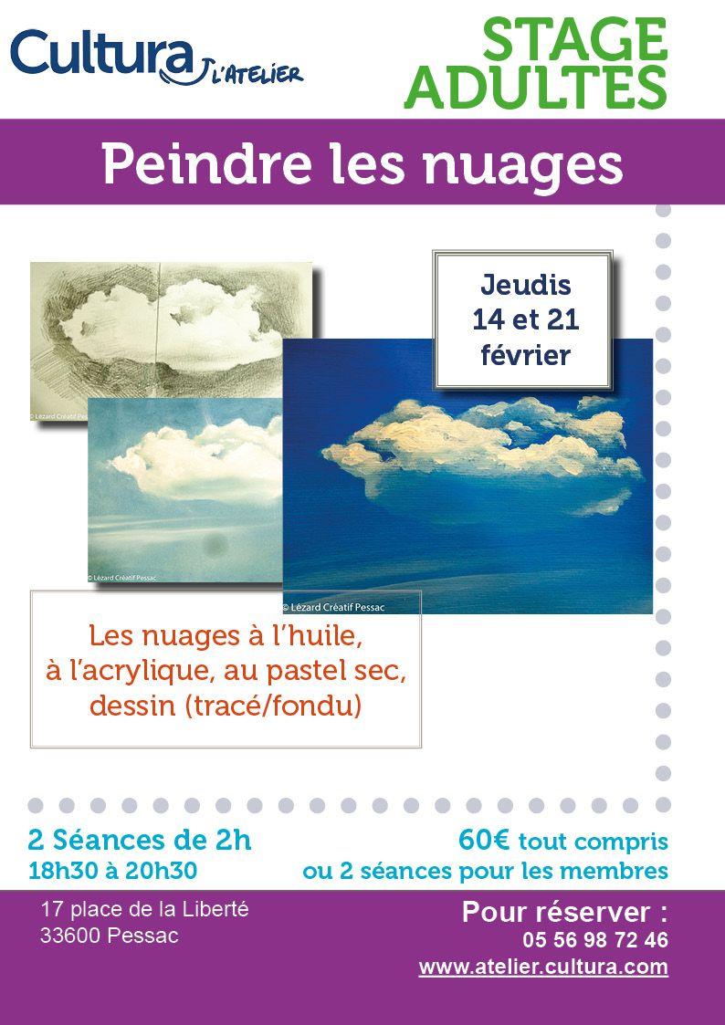 Stages Adultes Peindre Les Nuages Dessin Fusain Arts Et