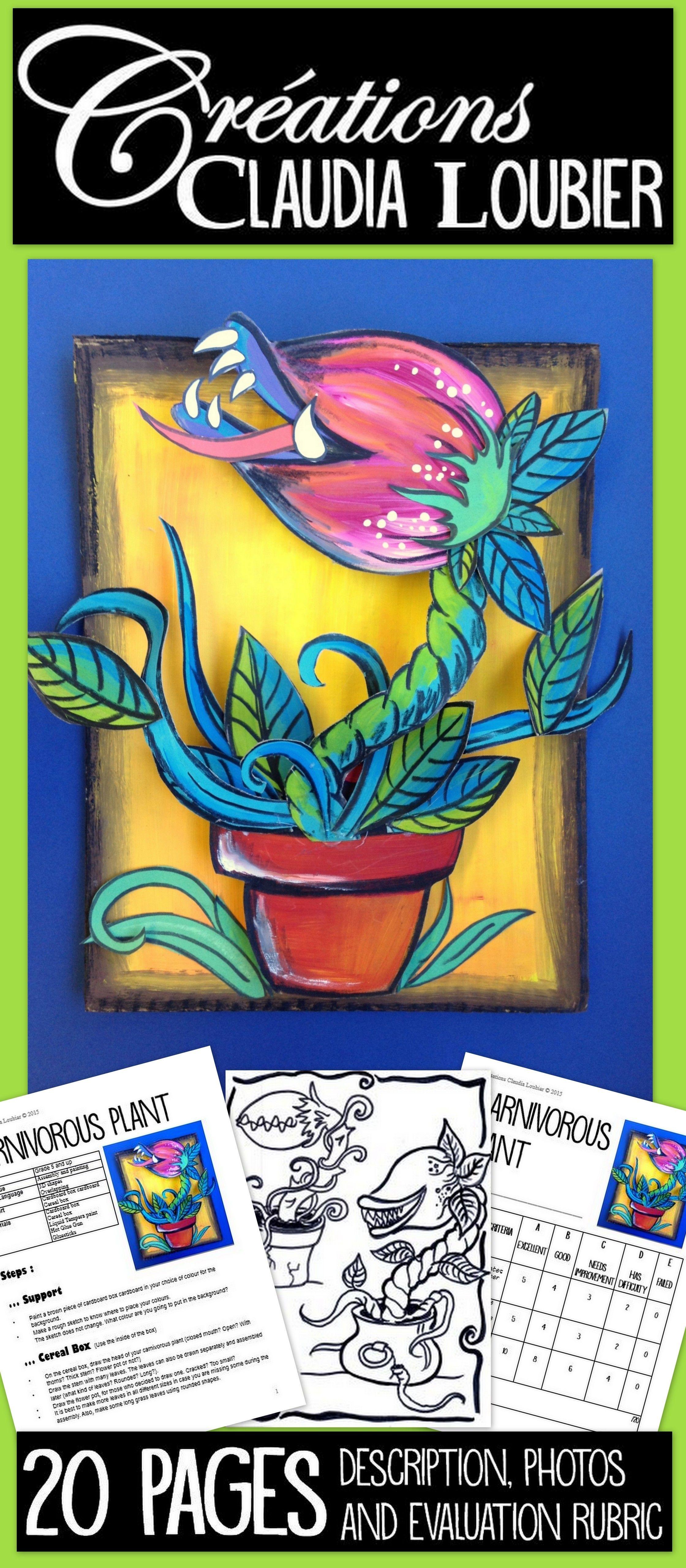Spring Art Lesson For Kids Carnivorous Plant