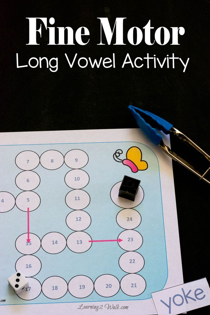 Fine Motor Long Vowel Activity | Vowel activities, Long vowels and ...