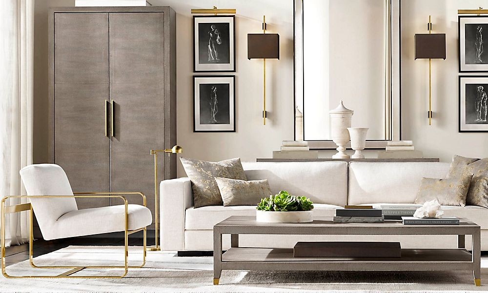 fascinating restoration hardware living room home deco | Restoration Hardware is the world's leading luxury home ...
