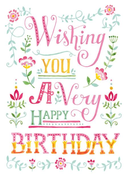 louise anglicas las_painted wordy design happy birthday female friend happy birthday woman very