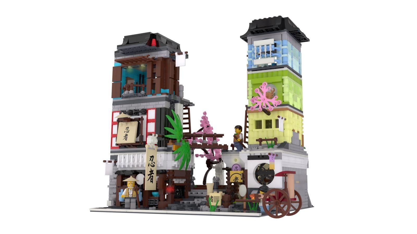Japanese Town Modular | Lego Modular Buildings | Pinterest | Lego ...