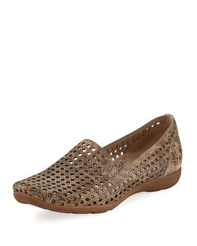 Gauri Perforated Casual Loafer, Taupe