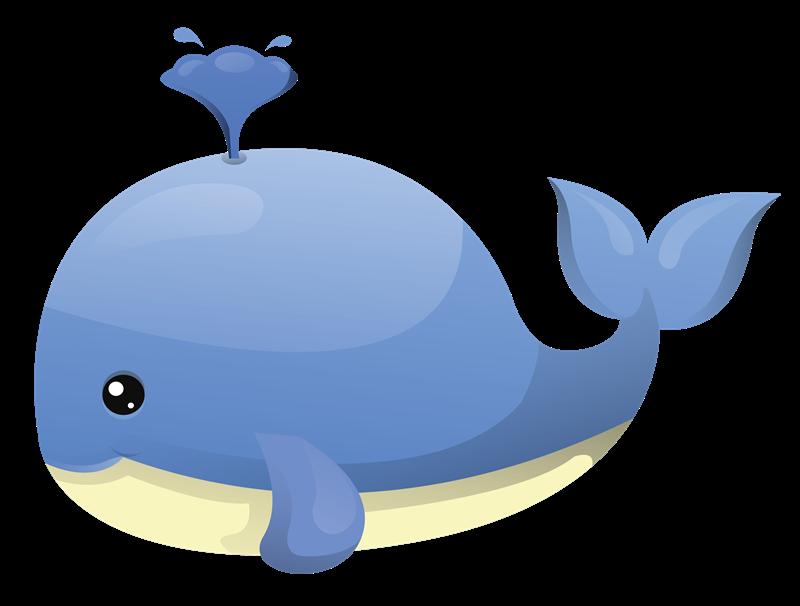 Whale baby. Cute clip art nursery