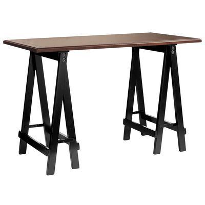 Sawhorse Desk Black Brown Sawhorse Desk Black Desk Small Desk