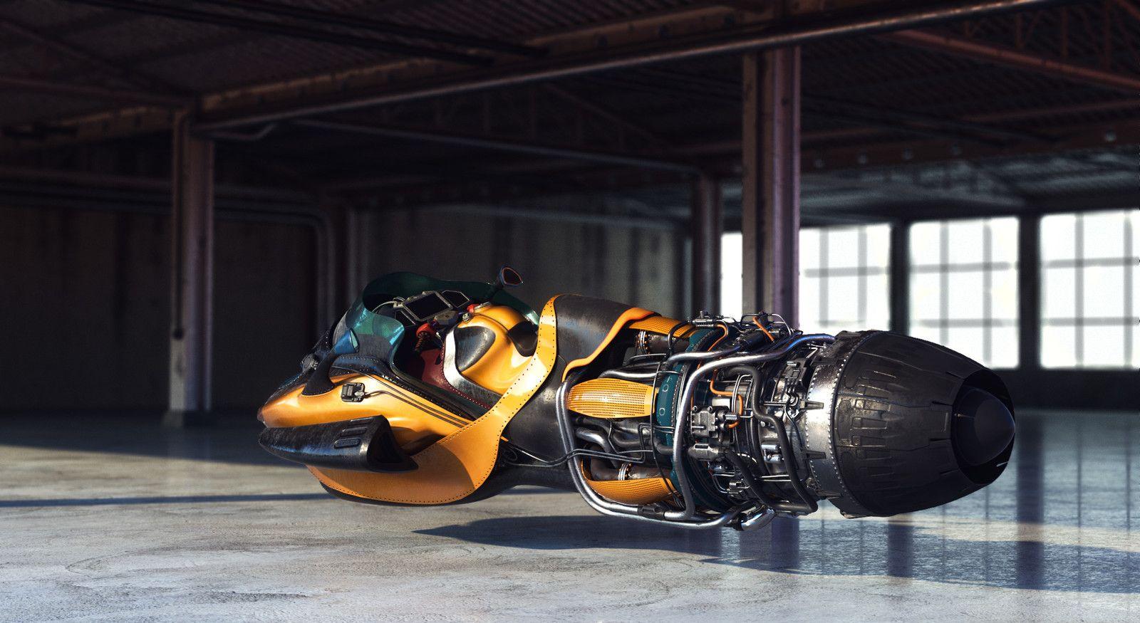 основных летающий мотоцикл картинка появлении аметиста земле