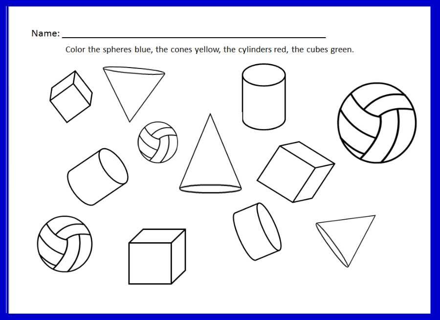 Worksheet For Learning About 3d Shapes Part Of The Shapes 2d And 3d