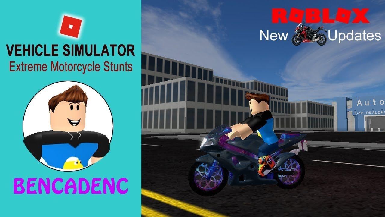 ROBLOX VEHICLE SIMULATOR | EXTREME MOTORCYCLE STUNTS #ROBLOX