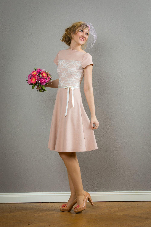 3a10b2fc3a35 Festliches Kleid, Brautkleid Betty in rosé von Jekyll und Kleid ...