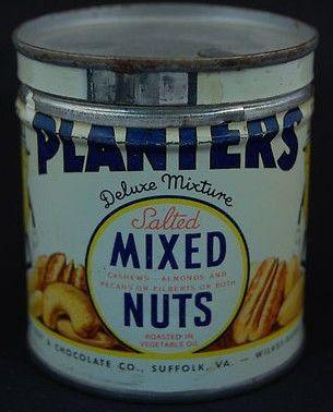 Planters Mixed Nuts Vintage Peanut Tins In 2019 Virginia Peanuts