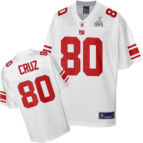 best website 4bb64 c0d34 Pro Line New York Giants Victor Cruz Super Bowl XLVI White ...