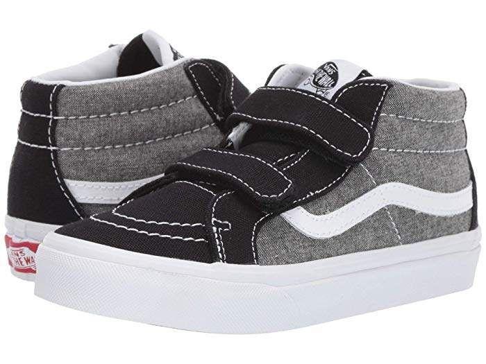 vans kids shoe chart