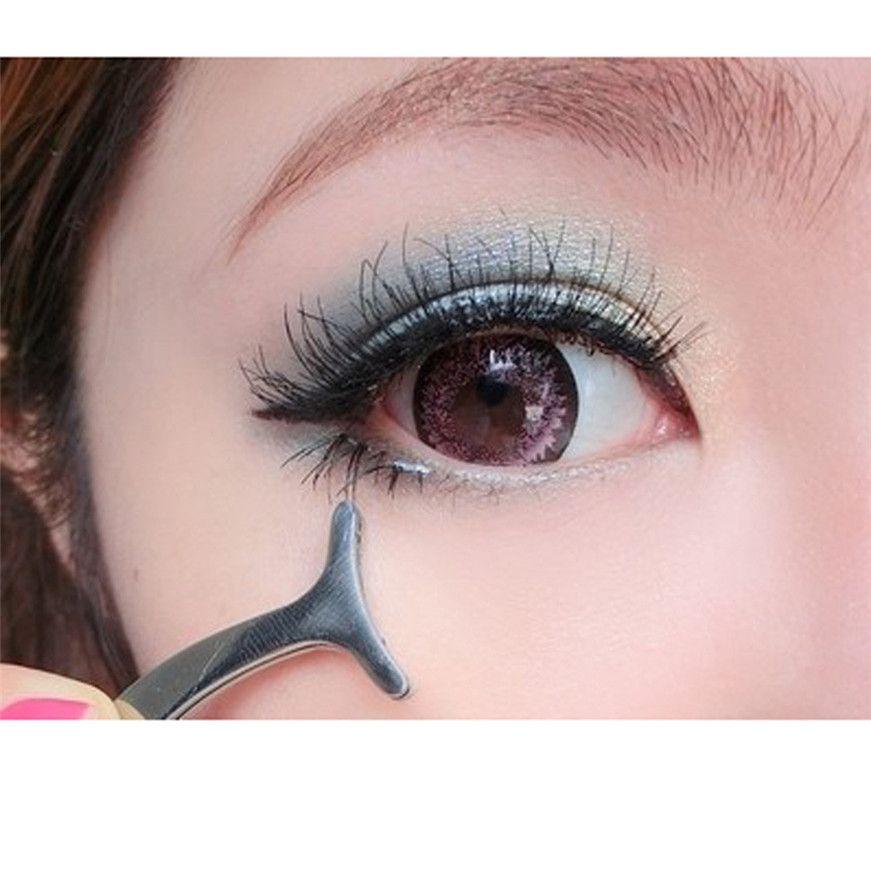 235020b4a6a 2017 Beauty Tools Multifunctional False Eyelashes Aid Stainless Steel Clip  Forceps false eyelash